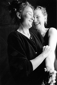 Caroline Lee & Cate Blanchett in the Woodbox, 1989