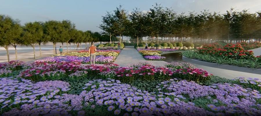 Artist impression of the Gargarro Regional Botanic Gardens